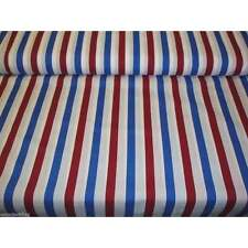 Red White And Blue Stripe Cotton Fabric