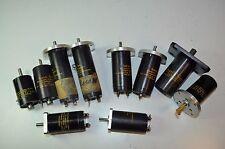 Lot of 10 Servo-Tek DC Generator Tach Tachometer Encoders  - Used/Parts/Repair
