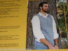 Knitting Pure & Simple Pattern 215 Basic Vest for Men