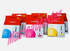 CANON CLI-8 GENUINE INK in a 6 Box SET: IP-6600D, IP-6700D & Pro 9000