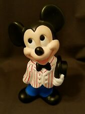 """VINTAGE DISNEY PRODUCTIONS MOLD MICKEY MOUSE HAND PAINTED CERAMIC 9"""""""