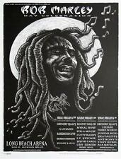 EMEK BOB MARLEY BLACK AND WHITE SILKSCREEN ROCK CONCERT POSTER
