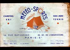 """PARIS (V°) CATALOGUE de MATERIEL DE CAMPING & CHASSE SOUS MARINE """"METEO SPORTS"""""""