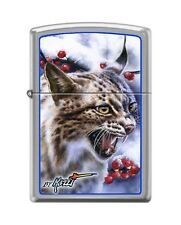 Zippo 7035 Mazzi Lynx Brushed Chrome Finish Lighter