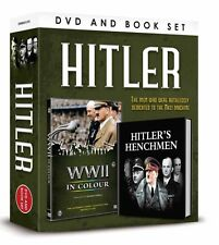 HITLER DVD & BOOK GIFT SET - WWII IN COLOUR (ROBERT POWELL) DVD & LITTLE BOOK