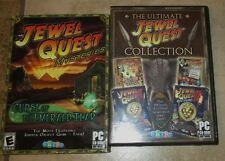JEWEL QUEST pc games Collection 4 in 1 Solitaire/Solitaire II Curse Emerald Tear