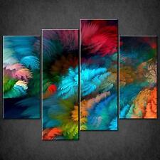 ASTRATTO colorato SPLIT Tela Muro Arte Foto Stampa Taglie Grandi Disponibili