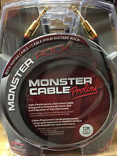 "Monster M-Rock2 12 Foot Straight 1/4"" Guitar Instrument Cable Cord Rock 2"