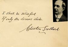 Poet CLINTON SCOLLARD Autograph Quotation Signed