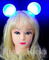 Mickey Mouse Light-Up Polka Dot Headband Ears Blinking LED Disney Flashing Party