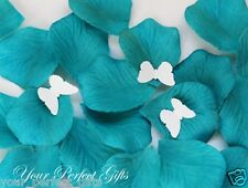 1000 TEAL BLUE SILK ROSE PETALS WEDDING FLOWER FAVOR