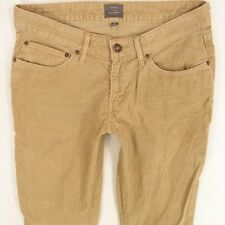 Ladies Womens Levis BOLD CURVE SKINNY Brown Cords Jeans W30 L30 UK Size 10