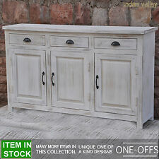 Contemporary wood French country white sideboard buffet hutch 1.5m