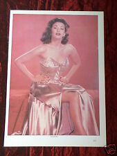 YVONNE DE CARLO - FILM STAR - 1 PAGE PICTURE - CLIPPING / CUTTING