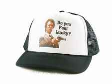 Do you feel Lucky? Clint Eastwood Trucker Hat mesh hat snapback hat Black