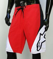 Alpinestars The Arrival Red BoardShort Surfing Short Mens Size Bottom 32
