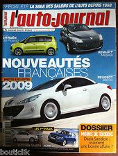 L'AUTO-JOURNAL du 17/07/2008; Dacia Sandero/ Fiat 500 Abarth/ Audi Q5