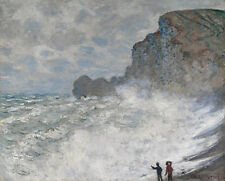 Rough weather at Etretat Claude Monet Wetter Frankreich Küste Meer B A3 01254