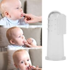Kids Baby Infant Soft Silicone Finger Toothbrush Teeth Rubber Massager Brush NEW
