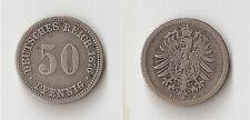 GERMANY 50 pfennig 1876 A