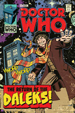 4th DOCTOR WHO: Return of The Daleks - 24x36 BBC TV Show Comic Art Poster (5609)