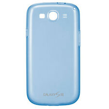 GENUINE NEW Samsung EFC-1G6WBEGSTA Light Blue TPU GEL Case Cover Galaxy S3 III