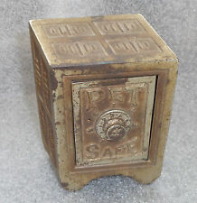 fine old cast iron Pet safe bank unusual 3D perspective