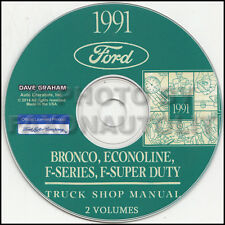 1991 Ford Pickup Truck Shop Manual CD Bronco F150 F250 F350 F-Super Duty Service