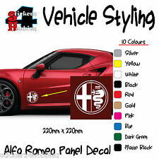 Alfa Romeo Panel Sticker Decal x2.