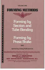 Metal Forming Methods Vol 1 By Section, Tube Bending, Press Brake (Lindsay book)