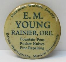 E.M. YOUNG Rainier OREGON sharpening hone stone *