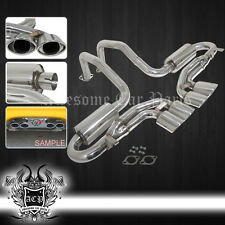 97-04 Chevy Corvette C5 LS1 Z06 Oval Quard Tips Muffler Axle Back Exhaust System