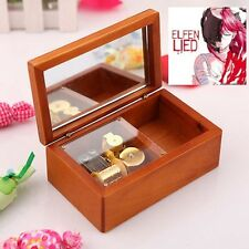 Rectangle jewelry Wood Wind Up  Music Box : ELFEN LIED - LILIUM