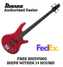 **IBANEZ GSR200 BASS GUITAR - TRANSPARENT RED, FULL SET-UP AND FREE SHIPPING**