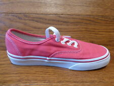 Vans Authentic Red  Canvas Trainers Sneakers Size UK 3 EUR 35