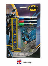 BATMAN Kids STATIONARY SET Party Favors Bag Fillers Gift + NOTEBOOK +FELT PENS