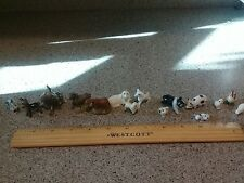 ceramic animals donkeys horses sheep pigs chickens lot of 15