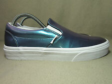 """VGC VANS """"OFF THE WALL"""" Unisex Patent Leather Slip On Trainers UK 7/EU 40.5"""