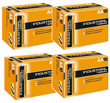 40 DURACELL INDUSTRIAL AA BATTERIES ALKALINE 1.5V LR6 MN1500 REPLACES PROCELL AA
