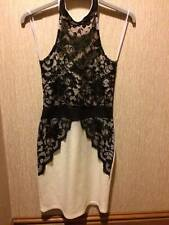 Ladies fitted bodycon lace detail party dress SIZE S [6-8] VGC