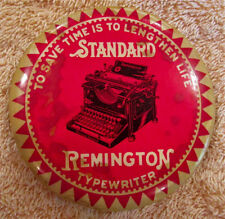 Vintage Celluloid Advertising Pocket Mirror - Standard Remington Typewriter