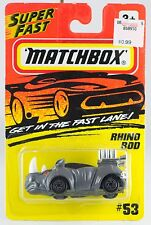 Matchbox MB 53 Rhino Rod Gray With Silver Wheels Red Eyes New On Card 1995