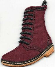 Iron On/ Sew On Embroidered Patch Badge Doc Boot Mart DM Boot