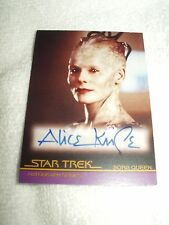 Star Trek Autograph Card Movies First Contact Alice Krige as Borg Queen A47