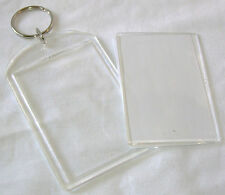 NEW SINGLE INSERT YOUR OWN PHOTO OR PICTURE BLANK KEYRING LARGE 3x2 INCH