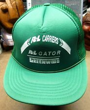 R&L CARRIERS global freight trucker hat GATOR baseball cap semi truck Greenwood