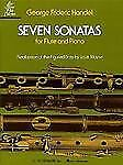 Classic Flute Sheet Music ~ Handel Seven Sonatas with Piano Accompianment