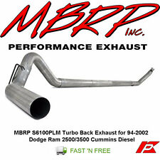 MBRP S6100PLM Turbo Back Exhaust for 94-2002 Dodge Ram 2500/3500 Cummins Diesel
