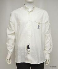 Nwt $145 RALPH LAUREN Wimbledon Logo Cotton Long Sleeve Shirt Top ~White *XL