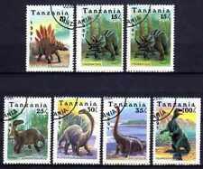 Animaux Préhistoriques Tanzanie (23) série complète 7 timbres oblitérés